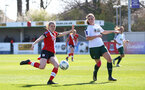 SOUTHAMPTON, ENGLAND - APRIL 04: Ella Pusey (L) of Southampton during the Vitality Women's FA Cup second round match between Southampton Women and Plymouth Argyle Women at The Snows Stadium on April 04, 2021 in Southampton, England. (Photo by Isabelle Field/Southampton FC via Getty Images)