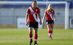 SOUTHAMPTON, ENGLAND - APRIL 04: Kirsty Whitton of Southampton during the Vitality Women's FA Cup second round match between Southampton Women and Plymouth Argyle Women at The Snows Stadium on April 04, 2021 in Southampton, England. (Photo by Isabelle Field/Southampton FC via Getty Images)
