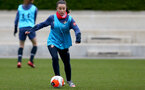 SOUTHAMPTON, ENGLAND - OCTOBER 21: Sophia Pharoah during Southampton Women's training session at Staplewood Complex on October 21, 2020 in Southampton, England. (Photo by Isabelle Field/Southampton FC via Getty Images)