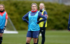 SOUTHAMPTON, ENGLAND - OCTOBER 21: Georgie Freeland during Southampton Women's training session at Staplewood Complex on October 21, 2020 in Southampton, England. (Photo by Isabelle Field/Southampton FC via Getty Images)