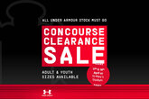 Big savings in our Concourse Sale