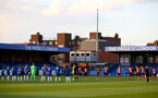 KINGSTON UPON THAMES, LONDON, ENGLAND - APRIL 12: Chelsea and Southampton players take part in a 2 minute silence in memory of HRH The Prince Philip Duke of Edinburgh during the Premier League 2 match between U23 Chelsea FC and Southampton B Team at the Kingsmeadow Stadium on April 12, 2021 in Kingston upon Thames, London, England.  (Photo by Isabelle Field/Southampton FC via Getty Images)