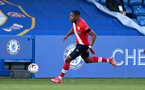KINGSTON UPON THAMES, LONDON, ENGLAND - APRIL 12: Dan N'Lundulu of Southampton during the Premier League 2 match between U23 Chelsea FC and Southampton B Team at the Kingsmeadow Stadium on April 12, 2021 in Kingston upon Thames, London, England.  (Photo by Isabelle Field/Southampton FC via Getty Images)