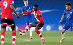 KINGSTON UPON THAMES, LONDON, ENGLAND - APRIL 12: Kazeem Olaigbe of Southampton during the Premier League 2 match between U23 Chelsea FC and Southampton B Team at the Kingsmeadow Stadium on April 12, 2021 in Kingston upon Thames, London, England.  (Photo by Isabelle Field/Southampton FC via Getty Images)