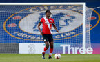 KINGSTON UPON THAMES, LONDON, ENGLAND - APRIL 12: Allan Tchaptchet of Southampton during the Premier League 2 match between U23 Chelsea FC and Southampton B Team at the Kingsmeadow Stadium on April 12, 2021 in Kingston upon Thames, London, England.  (Photo by Isabelle Field/Southampton FC via Getty Images)
