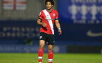 KINGSTON UPON THAMES, LONDON, ENGLAND - APRIL 12: Oludare Olufunwa of Southampton during the Premier League 2 match between U23 Chelsea FC and Southampton B Team at the Kingsmeadow Stadium on April 12, 2021 in Kingston upon Thames, London, England.  (Photo by Isabelle Field/Southampton FC via Getty Images)