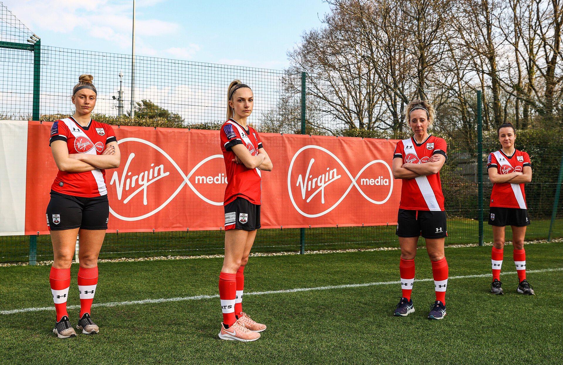 SOUTHAMPTON, ENGLAND - APRIL 14: Southampton FC Women's team pictured at the Staplewood Campus on April 14, 2021 in Southampton, England. (Photo by Matt Watson/Southampton FC via Getty Images)