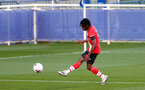 LEICESTER, ENGLAND - APRIL 19: Zuriel Otseh-Taiwo of Southampton during the Premier League 2 match between Leicester City and Southampton B Team at the Leicester City Training Ground on April 19, 2021 in Leicester, England.  (Photo by Isabelle Field/Southampton FC via Getty Images)
