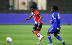 LEICESTER, ENGLAND - APRIL 19: Zuriel Otseh-Taiwo (L) of Southampton during the Premier League 2 match between Leicester City and Southampton B Team at the Leicester City Training Ground on April 19, 2021 in Leicester, England.  (Photo by Isabelle Field/Southampton FC via Getty Images)