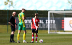SOUTHAMPTON, ENGLAND - APRIL 24: Lewis Payne (R) of Southampton during the Premier League U18s match between Southampton U18 and West Bromwich Albion at Staplewood Campus on April 24, 2021 in Southampton, England. (Photo by Isabelle Field/Southampton FC via Getty Images)