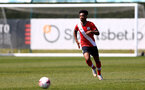 SOUTHAMPTON, ENGLAND - APRIL 24: Fedel Ross-Lang of Southampton during the Premier League U18s match between Southampton U18 and West Bromwich Albion at Staplewood Campus on April 24, 2021 in Southampton, England. (Photo by Isabelle Field/Southampton FC via Getty Images)