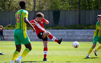 SOUTHAMPTON, ENGLAND - APRIL 24: Luke Pearce of Southampton during the Premier League U18s match between Southampton U18 and West Bromwich Albion at Staplewood Campus on April 24, 2021 in Southampton, England. (Photo by Isabelle Field/Southampton FC via Getty Images)