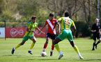 SOUTHAMPTON, ENGLAND - APRIL 24: Kami Doyle of Southampton during the Premier League U18s match between Southampton U18 and West Bromwich Albion at Staplewood Campus on April 24, 2021 in Southampton, England. (Photo by Isabelle Field/Southampton FC via Getty Images)