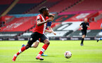 SOUTHAMPTON, ENGLAND - MAY 02: Dan N'Lundulu of Southampton during the Premier League 2 match between Southampton B Team and Everton at the St Mayr's Stadium on May 02, 2021 in Southampton, England.  (Photo by Isabelle Field/Southampton FC via Getty Images)