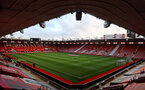 SOUTHAMPTON, ENGLAND - MAY 11: A general view ahead of the Premier League match between Southampton and Crystal Palace at St Mary's Stadium on May 11, 2021 in Southampton, England. Sporting stadiums around the UK remain under strict restrictions due to the Coronavirus Pandemic as Government social distancing laws prohibit fans inside venues resulting in games being played behind closed doors.  (Photo by Matt Watson/Southampton FC via Getty Images)