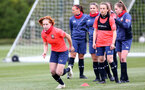 SOUTHAMPTON, ENGLAND - MAY 12: Molly Mott(L) during Southampton Women's training session at Staplewood Training Ground on May 12, 2021 in Southampton, England.  (Photo by Isabelle Field/Southampton FC via Getty Images)