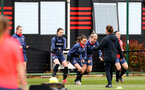SOUTHAMPTON, ENGLAND - MAY 12: Sophia Pharoah (center) during Southampton Women's training session at Staplewood Training Ground on May 12, 2021 in Southampton, England.  (Photo by Isabelle Field/Southampton FC via Getty Images)