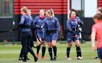 SOUTHAMPTON, ENGLAND - MAY 12: Shelly Provan (center) during Southampton Women's training session at Staplewood Training Ground on May 12, 2021 in Southampton, England.  (Photo by Isabelle Field/Southampton FC via Getty Images)