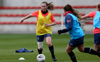 SOUTHAMPTON, ENGLAND - MAY 12: Charley Evans during Southampton Women's training session at Staplewood Training Ground on May 12, 2021 in Southampton, England.  (Photo by Isabelle Field/Southampton FC via Getty Images)