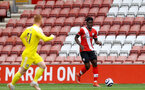 SOUTHAMPTON, ENGLAND - MAY 15: Mohammed Salisu of Southampton during the Premier League match between Southampton and Fulham at St Mary's Stadium on May 15, 2021 in Southampton, England. Sporting stadiums around the UK remain under strict restrictions due to the Coronavirus Pandemic as Government social distancing laws prohibit fans inside venues resulting in games being played behind closed doors.  (Photo by Matt Watson/Southampton FC via Getty Images)