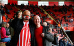 SOUTHAMPTON, ENGLAND - MAY 18: Southampton fans during the Premier League match between Southampton and Leeds United at St Mary's Stadium on May 18, 2021 in Southampton, England. (Photo by Isabelle Field/Southampton FC via Getty Images)