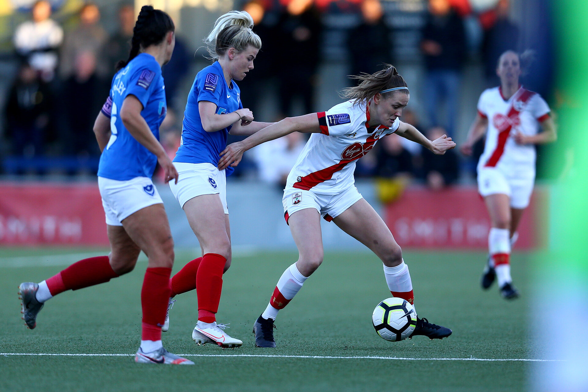 HAVANT, ENGLAND - MAY 19:  during the Hampshire FA Women's Senior Cup Final against Portsmouth Women and Southampton Women at Westleigh Park on May 19, 2021 in Havant, England. (Photo by Isabelle Field/Southampton FC via Getty Images)