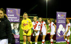 HAVANT, ENGLAND - MAY 19: Southampton players collect their runners up medals during the Hampshire FA Women's Senior Cup Final against Portsmouth Women and Southampton Women at Westleigh Park on May 19, 2021 in Havant, England. (Photo by Isabelle Field/Southampton FC via Getty Images)