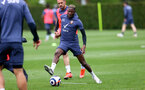 SOUTHAMPTON, ENGLAND - MAY 21: Moussa Djenepo during a Southampton FC training session at the Staplewood Campus on May 21, 2021 in Southampton, England. (Photo by Matt Watson/Southampton FC via Getty Images)