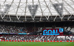 LONDON, ENGLAND - MAY 23: West Ham score during the Premier League match between West Ham United and Southampton at London Stadium on May 23, 2021 in London, England. (Photo by Matt Watson/Southampton FC via Getty Images)