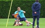 SOUTHAMPTON, ENGLAND - JULY 08: Mohammed Salisu(L) and James Ward-Prowse during a Southampton FC pre season training session at the Staplewood Campus on July 08, 2021 in Southampton, England. (Photo by Matt Watson/Southampton FC via Getty Images)