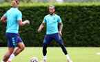 SOUTHAMPTON, ENGLAND - JULY 13: Theo Walcott during pre-season training session at Staplewood Complex on July 13, 2021 in Southampton, England. (Photo by Isabelle Field/Southampton FC via Getty Images)