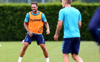 SOUTHAMPTON, ENGLAND - JULY 13: Danny Ings during pre-season training session at Staplewood Complex on July 13, 2021 in Southampton, England. (Photo by Isabelle Field/Southampton FC via Getty Images)
