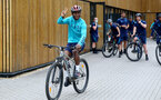 SOUTHAMPTON, ENGLAND - JULY 15: Idrahima Diallo during team building cycle ride around Deerleap, New Forest on July 15, 2021 in Southampton, England. (Photo by Isabelle Field/Southampton FC via Getty Images)