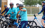 SOUTHAMPTON, ENGLAND - JULY 15: Nathan Redmond during team building cycle ride around Deerleap, New Forest on July 15, 2021 in Southampton, England. (Photo by Isabelle Field/Southampton FC via Getty Images)