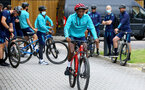 SOUTHAMPTON, ENGLAND - JULY 15: Moussa Djenepo during team building cycle ride around Deerleap, New Forest on July 15, 2021 in Southampton, England. (Photo by Isabelle Field/Southampton FC via Getty Images)