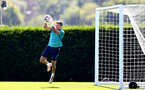SOUTHAMPTON, ENGLAND - JULY 16: Fraser Forster during pre-season training session at Staplewood Complex on July 16, 2021 in Southampton, England. (Photo by Isabelle Field/Southampton FC via Getty Images)