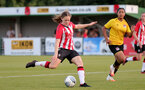 SOUTHAMPTON, ENGLAND - July 20: Lucia Kendall of Southampton during per-season friendly between Saints Women and Southampton Women Development team at The Snows Stadium on July 20, 2021 in Southampton, England. (Photo by Isabelle Field/Southampton FC via Getty Images)