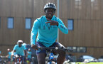 SOUTHAMPTON, ENGLAND - JULY 21: Mohammed Salisu during a pre season day of cycling around The New forest, July 21, 2021 in Southampton, England. (Photo by Matt Watson/Southampton FC via Getty Images)