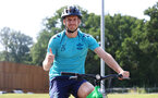 SOUTHAMPTON, ENGLAND - JULY 21: Stuart Armstrong during a pre season day of cycling around The New forest, July 21, 2021 in Southampton, England. (Photo by Matt Watson/Southampton FC via Getty Images)