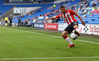 CARDIFF, WALES - JULY 27: Romain Perraud of Southampton during the Pre-Season Friendly match between Cardiff City and Southampton at Cardiff City Stadium on July 27, 2021 in Cardiff, Wales. Photo by Matt Watson/Southampton FC via Getty Images