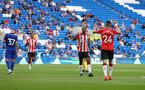 CARDIFF, WALES - JULY 27: Theo Walcott of Southampton celebrates after scoring during the Pre-Season Friendly match between Cardiff City and Southampton at Cardiff City Stadium on July 27, 2021 in Cardiff, Wales. Photo by Matt Watson/Southampton FC via Getty Images