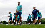 CARDIFF, WALES - JULY 28: Theo Walcott during a Southampton FC pre-season recovery session at The Vale Resort, Vale of Glamorgan on July 28, 2021 in Cardiff, Wales. Photo by Matt Watson/Southampton FC via Getty Images