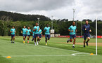 CARDIFF, WALES - JULY 28: Players take part in recovery runs during a Southampton FC pre-season recovery session at The Vale Resort, Vale of Glamorgan on July 28, 2021 in Cardiff, Wales. Photo by Matt Watson/Southampton FC via Getty Images