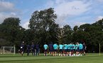 CARDIFF, WALES - JULY 29: Southampton manager Ralph Hasenhüttl speaks to his players during a Southampton FC pre season training session at the Vale Resort, Vale of Glamorgan on July 29, 2021 in Cardiff, Wales. (Photo by Matt Watson/Southampton FC via Getty Images)