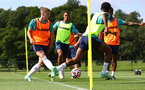 CARDIFF, WALES - JULY 29: ?? during a Southampton FC pre season training session at the Vale Resort, Vale of Glamorgan on July 29, 2021 in Cardiff, Wales. (Photo by Matt Watson/Southampton FC via Getty Images)