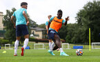 CARDIFF, WALES - JULY 29: Mohammed Salisu during a Southampton FC pre season training session at the Vale Resort, Vale of Glamorgan on July 29, 2021 in Cardiff, Wales. (Photo by Matt Watson/Southampton FC via Getty Images)