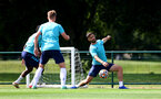 CARDIFF, WALES - JULY 29: Shane Long during a Southampton FC pre season training session at the Vale Resort, Vale of Glamorgan on July 29, 2021 in Cardiff, Wales. (Photo by Matt Watson/Southampton FC via Getty Images)