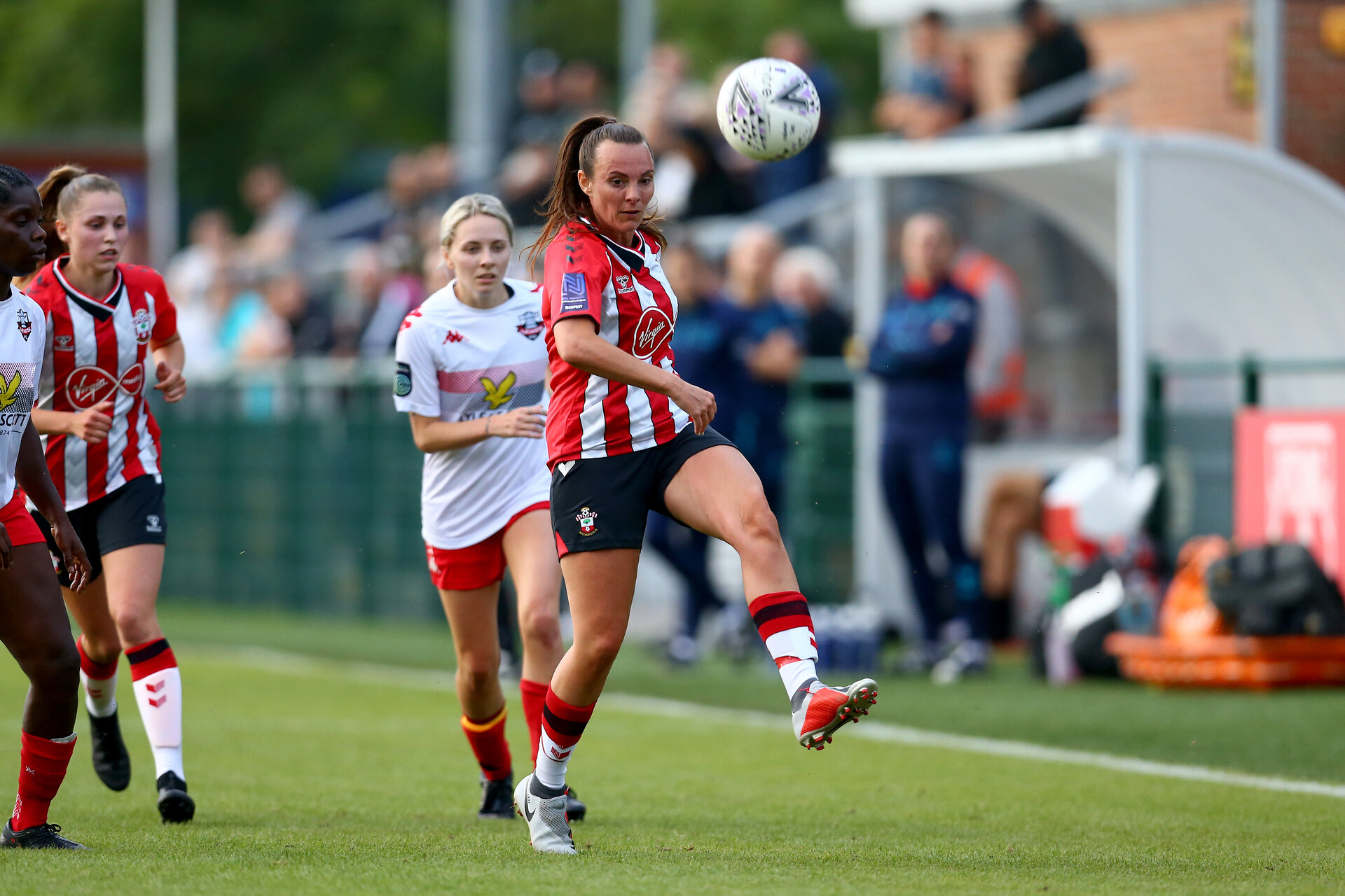 SOUTHAMPTON, ENGLAND - JULY 29: Leeta Rutherford of Southampton during pre season friendly match between Southampton Women's Team and Lewes FC at Snows Stadium on July 29, 2021 in Southampton, England. (Photo by Isabelle Field/Southampton FC via Getty Images)
