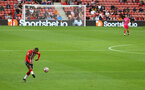 SOUTHAMPTON, ENGLAND - AUGUST 07: Yan Valery of Southampton on the ball during the pre season friendly match between Southampton FC and Athletic Club at St Mary's Stadium on August 07, 2021 in Southampton, England. (Photo by Matt Watson/Southampton FC via Getty Images)