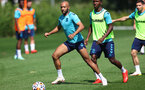 SOUTHAMPTON, ENGLAND - AUGUST 11: Nathan Redmond during a Southampton FC training session at the Staplewood Campus on August 11, 2021 in Southampton, England. (Photo by Matt Watson/Southampton FC via Getty Images)